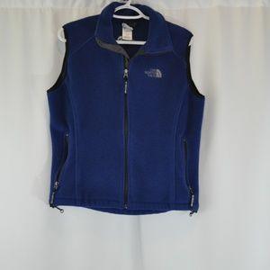 The North Face Womens Blue Fleece Vest - S.